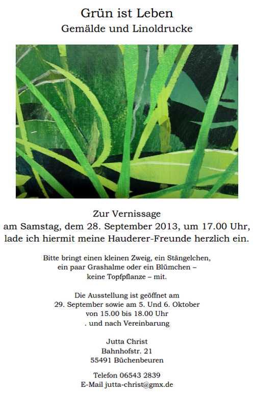 Ausstellung Jutta Christ