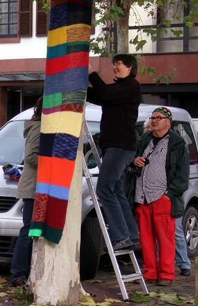 Urban knitting in Simmern