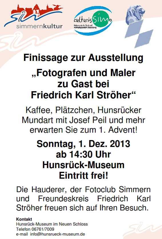 Finissage im Hunsrückmuseum