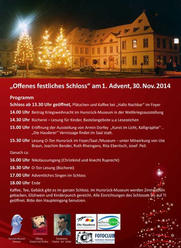Erster Advent im Simmerner Schloss 2014