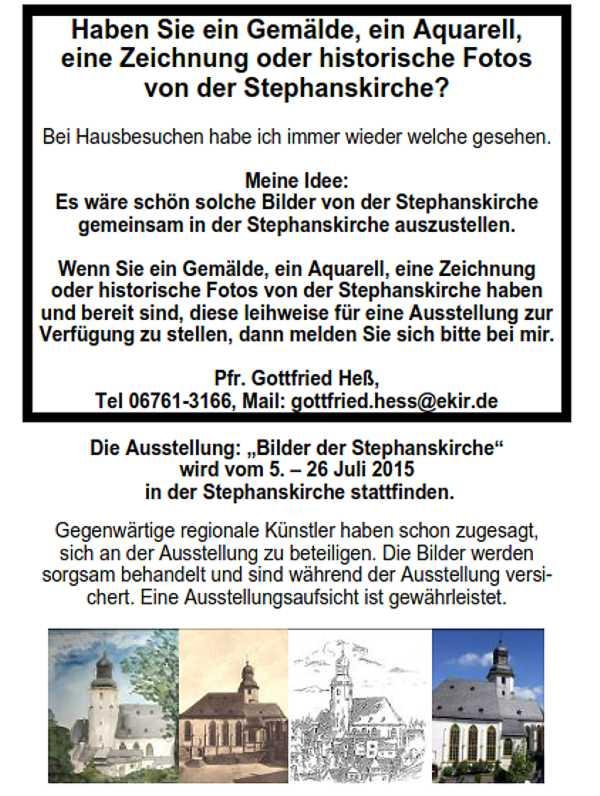 Ausstellung in der Stephanskirche