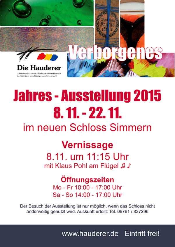Jahresausstellung Hauderer 2015