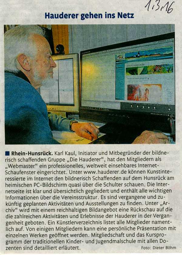 Hauderer-Homepage