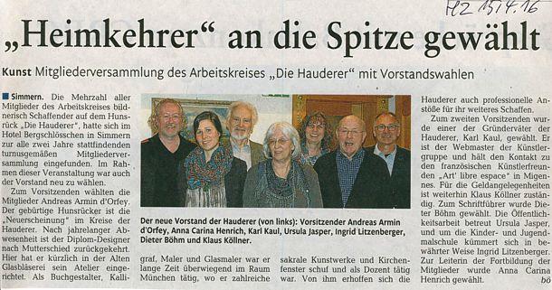 Vorstand Hauderer 2016