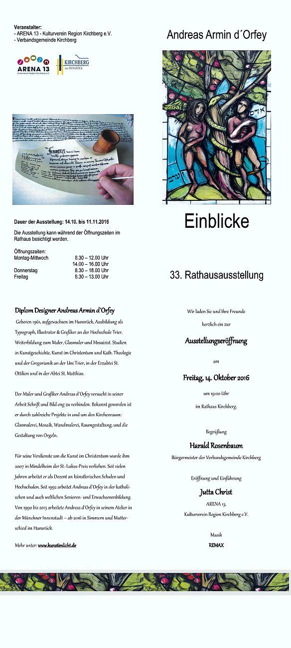 Ausstellung d'Orfey in Kirchberg