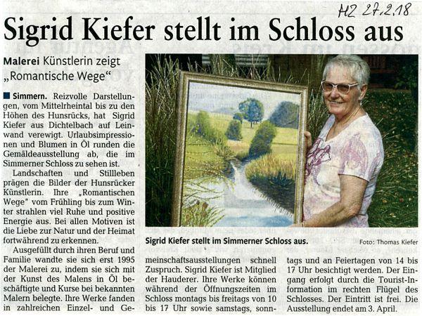 Ausstellung Sigrid Kiefer