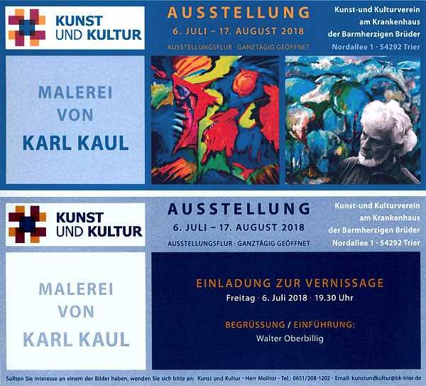 Ausstellung von Karl Kaul in Trier 2018