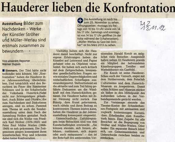 Die Hauderer - Presseberichte über Ausstellungen der