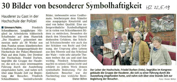 F. Schmidtmeier Ausstellung Polizeischule Hahn