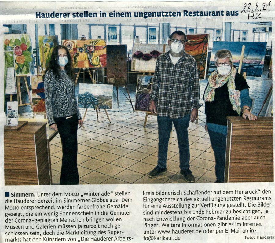 Hauderer-Ausstellung im GLOBUS Simmern